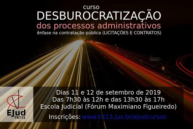 Desburocratização dos processos administrativos