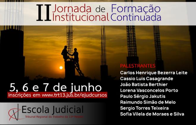 Escola Judicial promoverá a II Jornada Institucional de Formação Continuada para magistrados e servidores