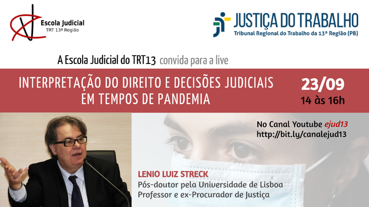 Live - Interpretação do Direito e Decisões Judiciais em Tempos de Pandemia
